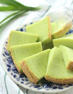Tự làm bánh bông lan lá dứa thơm ngon - Pandan Coconut Ogura Chiffon