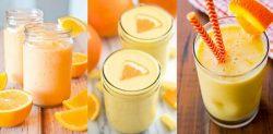 Làm sinh tố cam sữa ngon lành, mát bổ