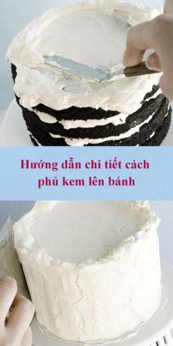 Hướng dẫn chi tiết cách phủ kem lên bánh