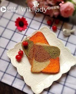 Cách làm bánh mì sandwich bốn màu