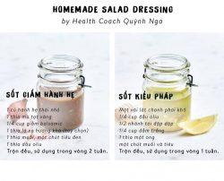 8 công thức sốt homemade cho món Salad thêm ngon