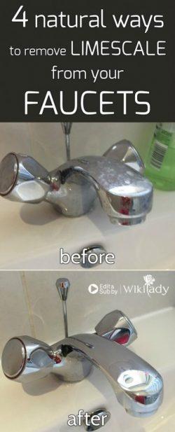 4 cách tự nhiên để loại bỏ lớp vôi bám trên vòi nước