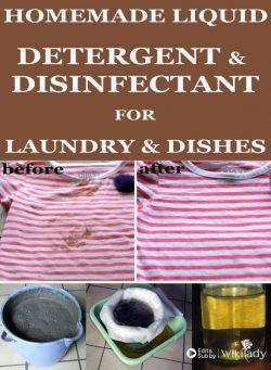 Tự làm hỗn hợp tẩy rửa, khử trùng cho quần áo và bát đĩa