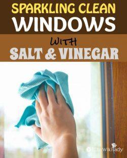 Mách bạn cách vệ sinh cửa kính hiệu quả với muối và giấm