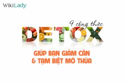 9 công thức detox cực dễ làm giúp bạn giảm cân nhanh chóng