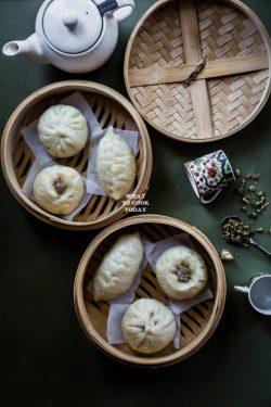 Bánh bao lá hành– món độc lạ cho mọi bữa ăn (Steamed Pork Scallion Buns)