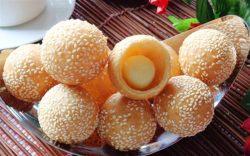 Cách làm bánh rán lúc lắc vừng vàng ươm, thơm ngậy