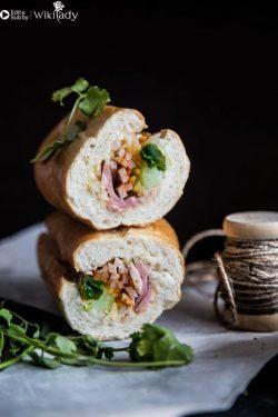 Cách làm một ổ bánh mì Việt Nam đặc biệt - bánh mì kẹp thịt siêu ngon