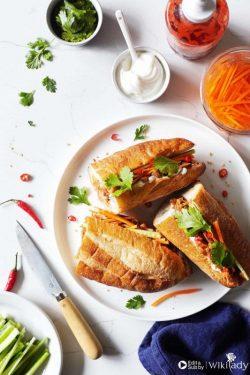 Bánh mì mít non ngâm sả chay - cực ngon và lạ miệng