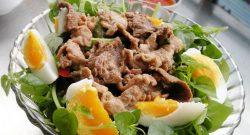 Rau càng cua trộn thịt bò dầu giấm ngon mát