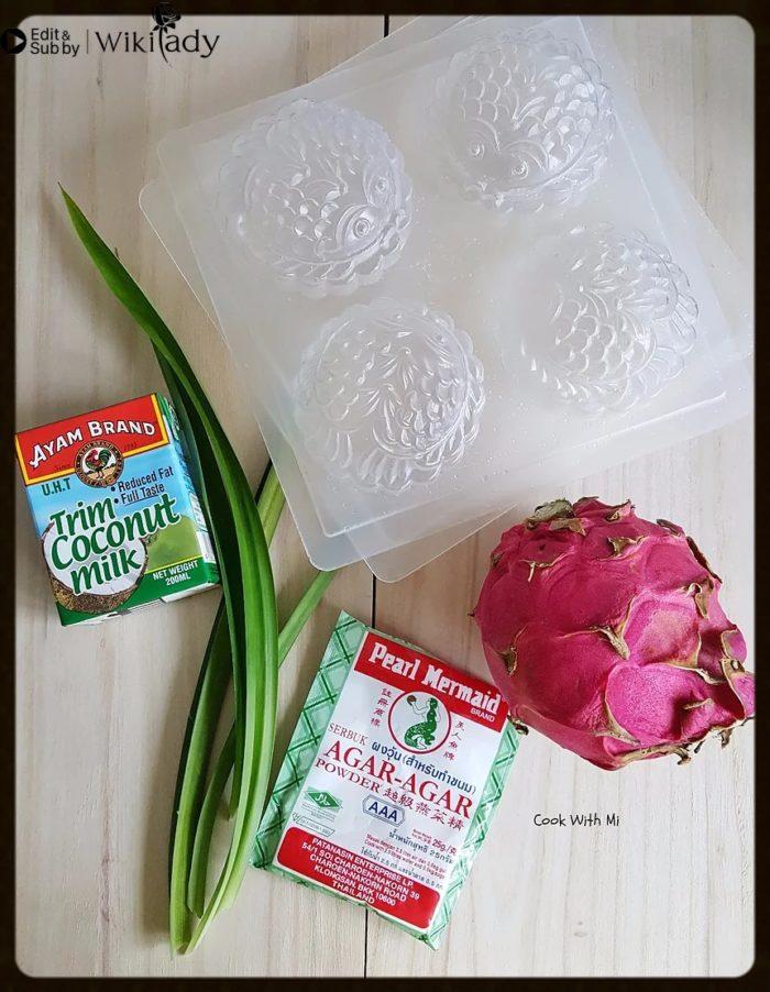 bánh trung thu rau câu thanh long đỏ nhân dừa 2