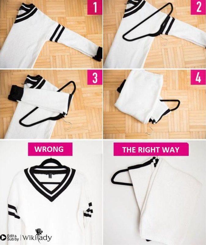 cách gấp quần áo 1