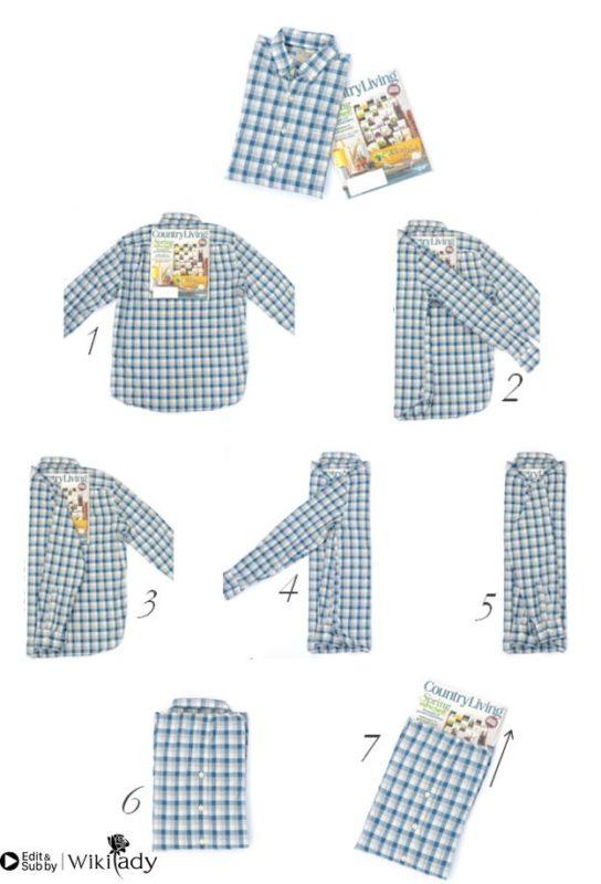 cách gấp quần áo 2