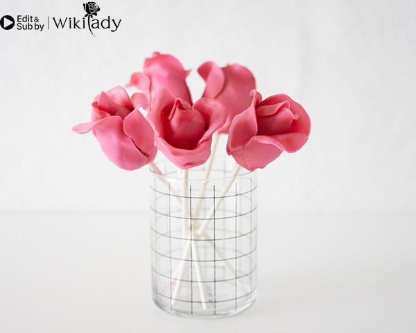 Cách làm cake pop hoa hồng 19