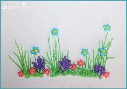 Bức tranh mùa xuân từ kem trắng royal icing