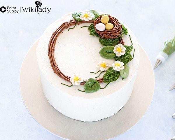 Cách làm vòng hoa trang trí bánh 16
