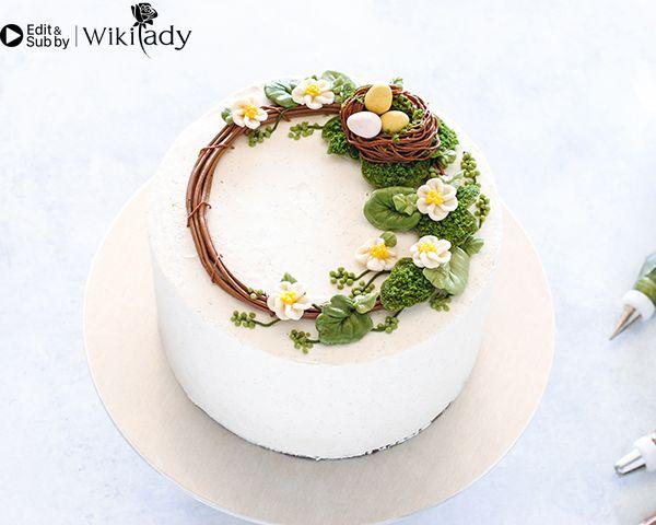 Cách làm vòng hoa trang trí bánh 18