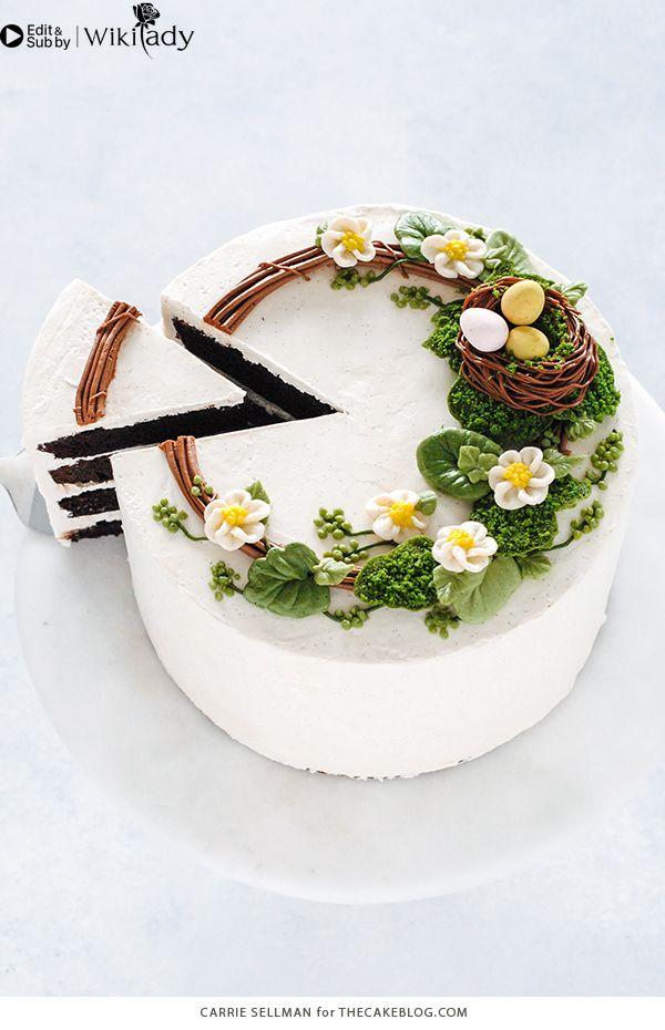 Cách làm vòng hoa trang trí bánh 19