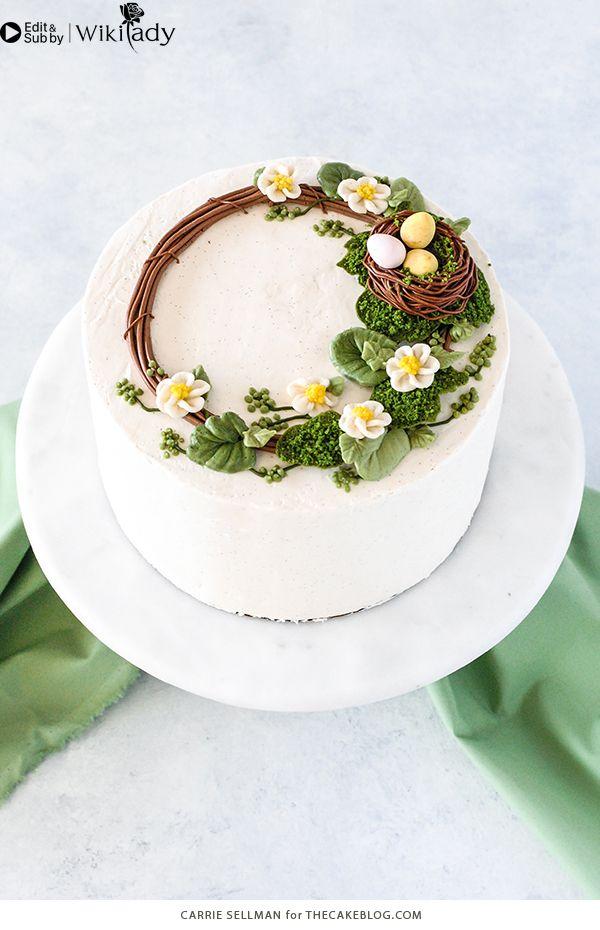 Cách làm vòng hoa trang trí bánh 2