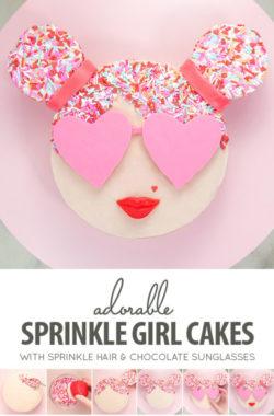 Trang trí bánh với hình ảnh  cô nàng sang chảnh siêu ấn tượng