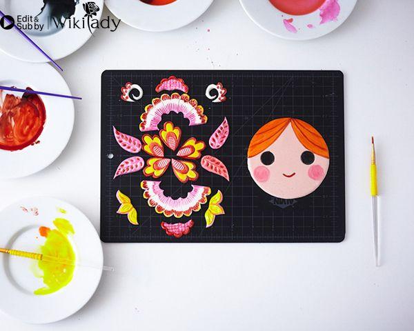 trang trí bánh kem hình búp bê Nga 16