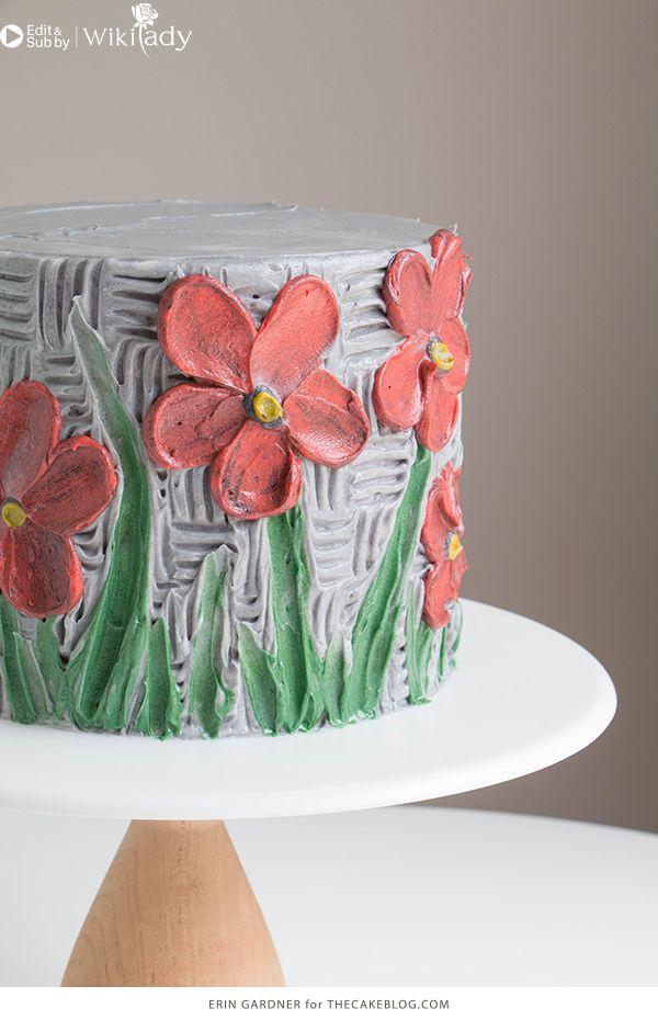 trang trí bánh kem bằng nĩa và cây chà láng 2