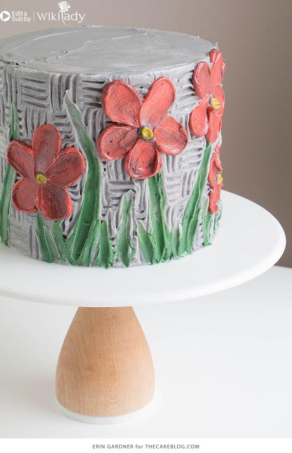 trang trí bánh kem bằng nĩa và cây chà láng 4