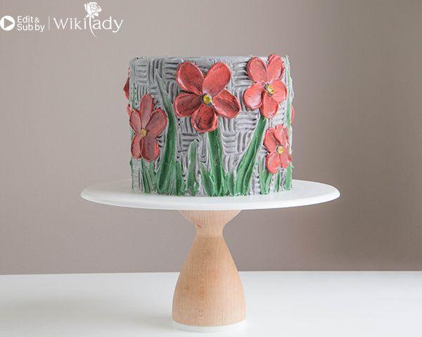 trang trí bánh kem bằng nĩa và cây chà láng 30