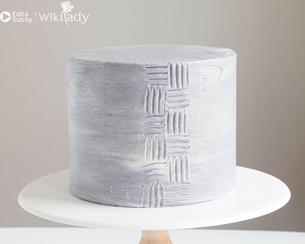 trang trí bánh kem bằng nĩa và cây chà láng 8