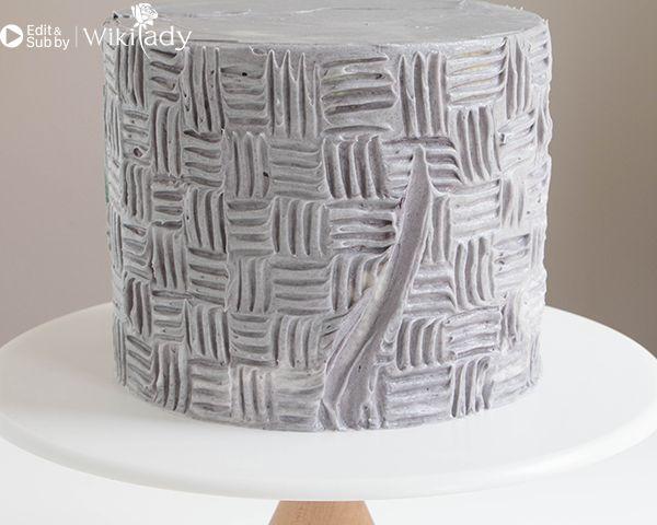 trang trí bánh kem bằng nĩa và cây chà láng 10