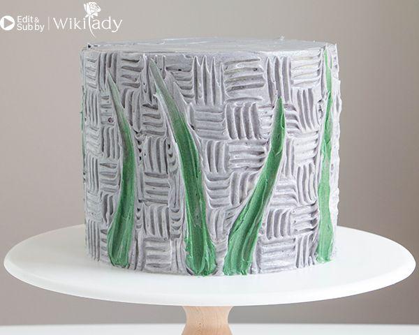 trang trí bánh kem bằng nĩa và cây chà láng 13