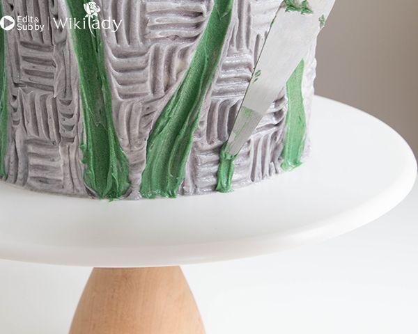 trang trí bánh kem bằng nĩa và cây chà láng 14