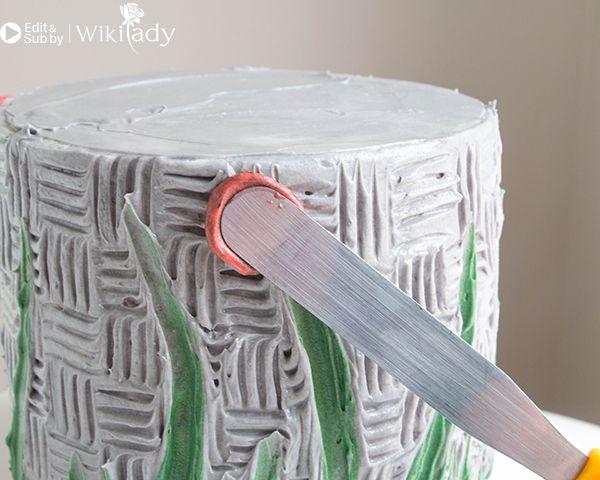 trang trí bánh kem bằng nĩa và cây chà láng 17
