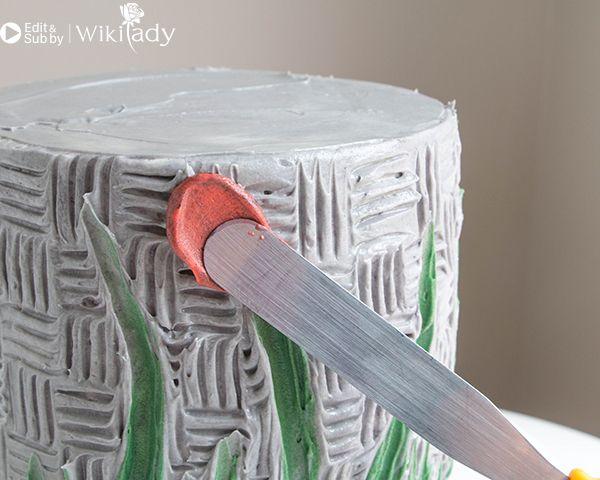 trang trí bánh kem bằng nĩa và cây chà láng 18