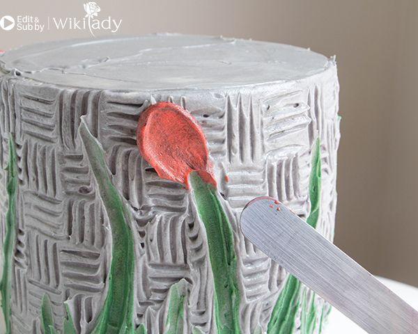 trang trí bánh kem bằng nĩa và cây chà láng 19
