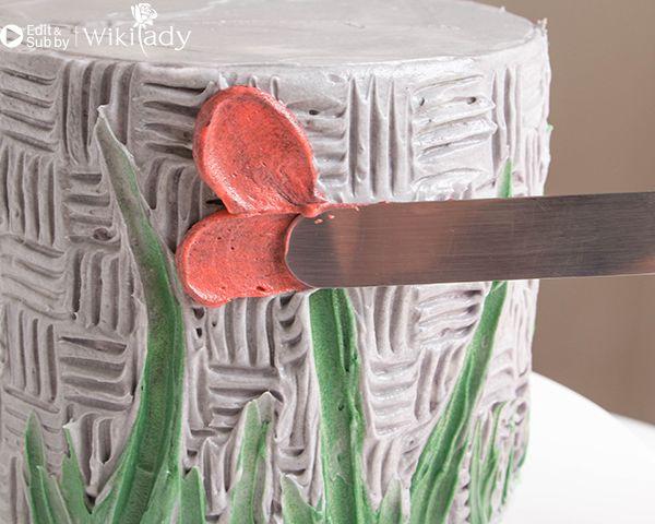 trang trí bánh kem bằng nĩa và cây chà láng 21