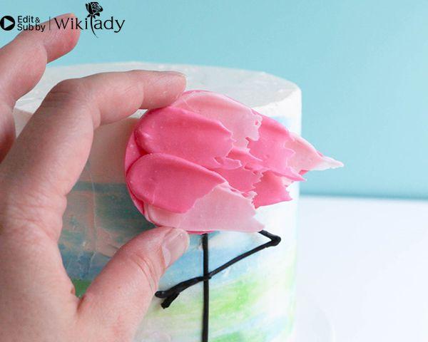 Cách trang trí bánh kem hồng hạc  34