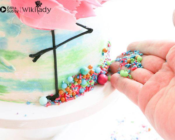Cách trang trí bánh kem hồng hạc 38