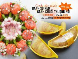 Ưu đãi 84% khi mua Combo khóa học Online dạy làm bánh su kem và bánh chuối Thượng Hải