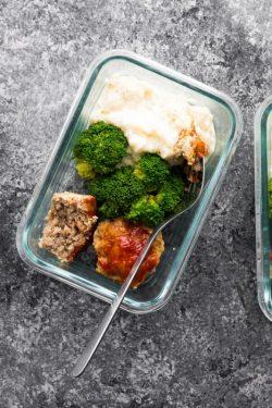 Bữa ăn Lowcarb: bánh thịt xay Meatloaf và bông cải nghiền