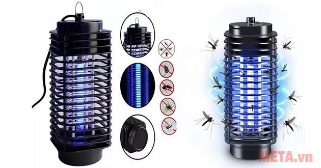 Cấu tạo và nguyên lý bắt muỗi của đèn bắt muỗi