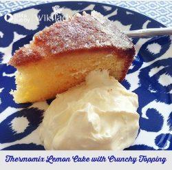 Bánh chanh phủ kem chanh đường thơm ngon nhờ máy Thermomix