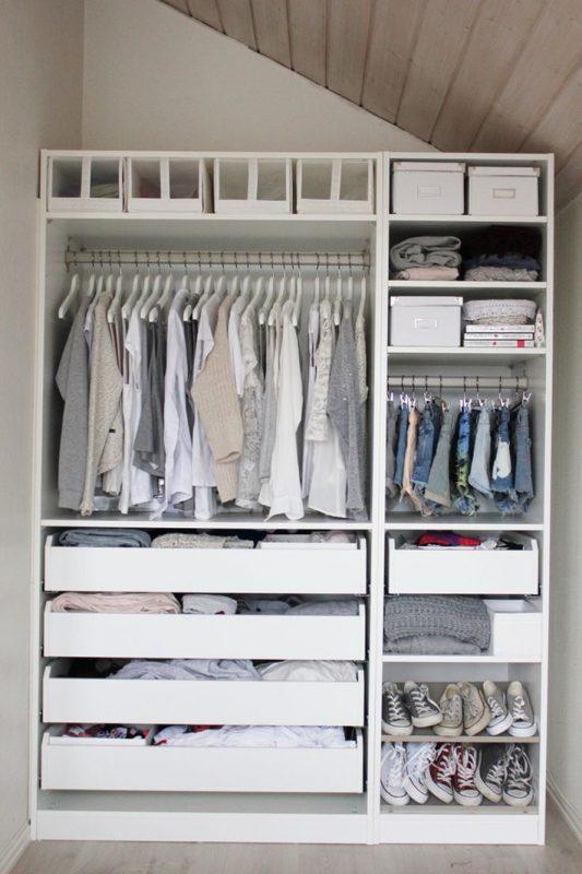 Tận dụng những góc chết trong nhà để tủ quần áo