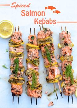 Hướng dẫn cách làm kebab cá hồi thơm ngon