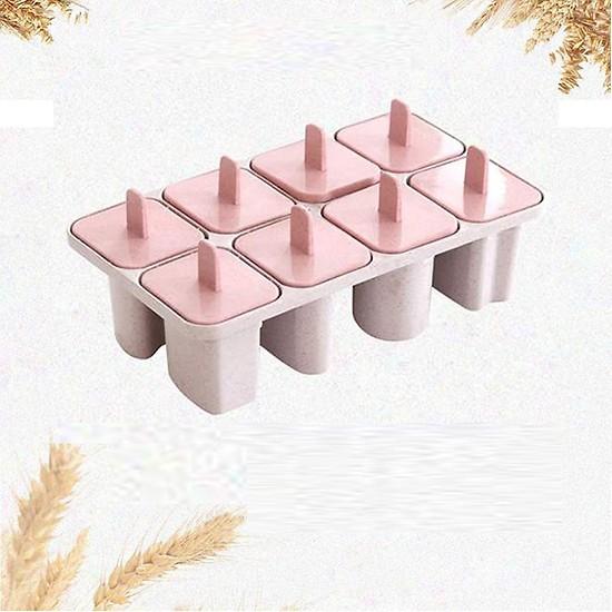 Khuôn làm kem 8 que bằng nhựa lúa mạch