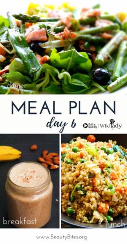 Chế độ 7 ngày Eat Clean: Tươi mới với smoothie, cơm chiên hạt kê, măng tây cá hồi (Ngày 6)