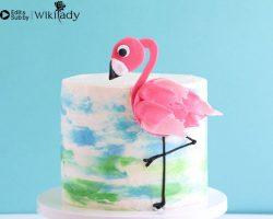 Cách trang trí bánh kem hồng hạc đẹp không thể rời mắt