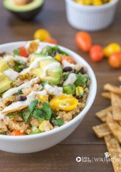 Món ăn Eat Clean: Quinoa Bowl kết hợp bánh Taco