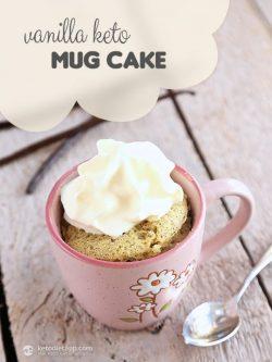 Bánh Mug cake keto hương vani lôi cuốn