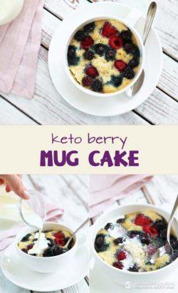 Hướng dẫn cách làm bánh Mug cake từ quả mọng (Keto)